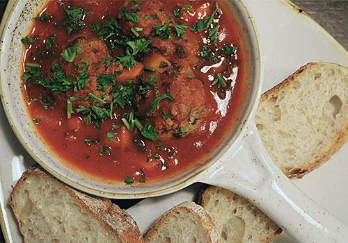 Italian Meatballs herbs fresh bread Grapevine Dalkey