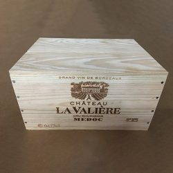 6 Bottle Wooden Case: Domaine La Valiere 2016, Medoc